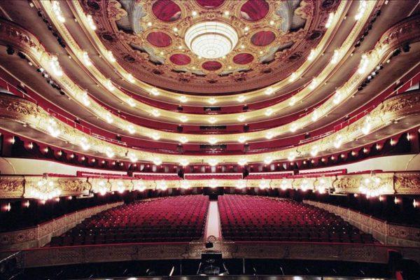 ICULT TEATRO EXPOSICION BARCELONA CIUTAT DE TEATRES Aspecte de la sala principal del Liceu  despres de la darrera reforma   Fotografia  Antoni Bofill  Gran Teatre del Liceu
